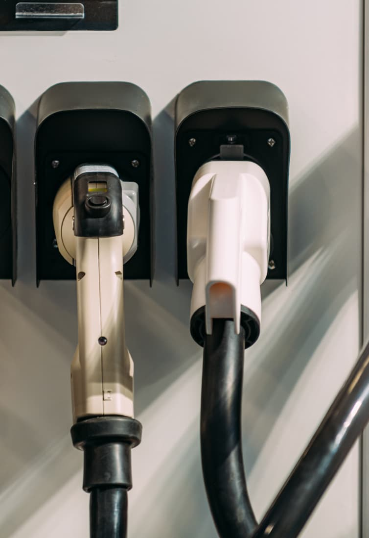 Simple EV chargers hanging up